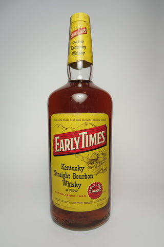 Early Times 4YO Kentucky Straight Bourbon Whiskey - Distilled 1974, Bottled 1978 (43%, 114cl)