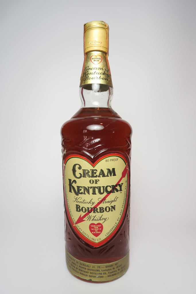 James E. Pepper's Cream of Kentucky 4YO Kentucky Straight Bourbon Whiskey - 1960s (40%, 75cl)