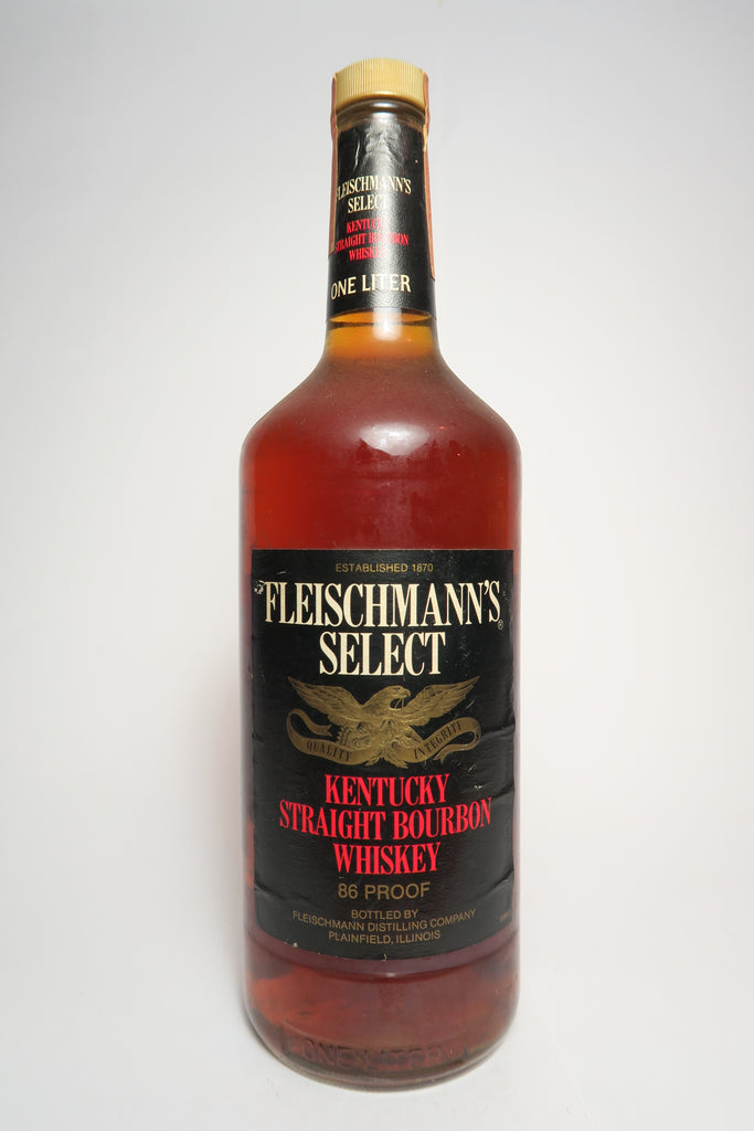 Fleischmann's Select Straight Bourbon Whiskey - 1980s (43%, 100cl)