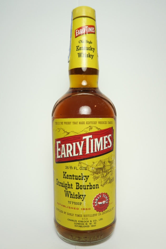 Early Times 4YO Kentucky Straight Bourbon Whiskey - Distilled 1965, Bottled 1969 (40%, 75cl)