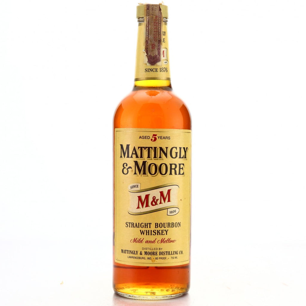 Mattingly & Moore 5YO Kentucky Straight Bourbon Whiskey  - Distilled 1975 / Bottled 1980 (40%, 75cl)