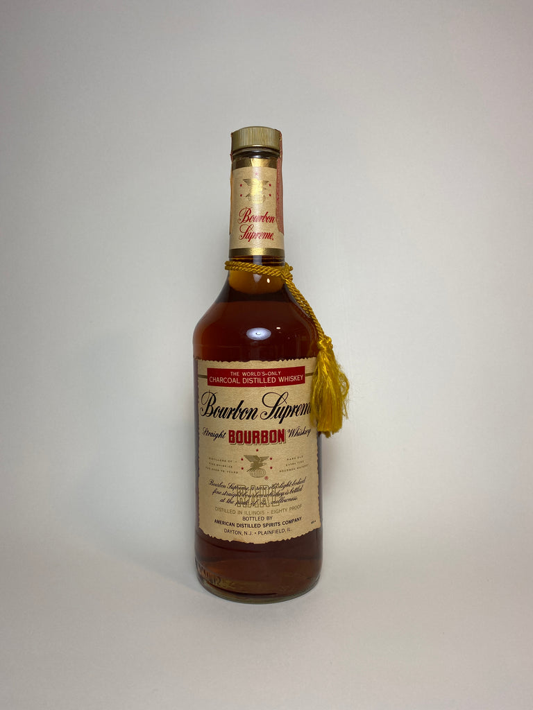 The American Distilling Co's Bourbon Supreme Illinois Straight Bourbon Whiskey - Bottled 1981 (40%, 75cl)