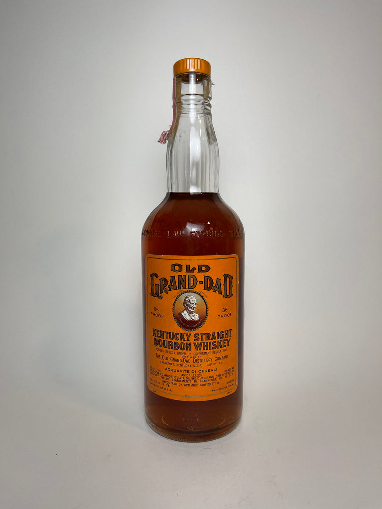Old Grand-Dad Kentucky Straight Bourbon Whiskey - Bottled 1960 (43%, 75cl)