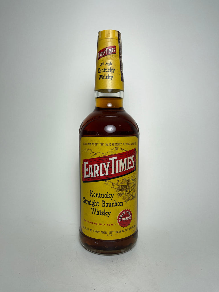 Early Times Old Style Kentucky Straight Bourbon Whisky - 1960s (43%, 70cl)