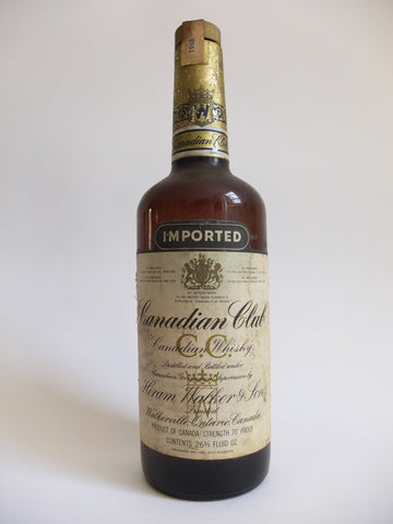 Canadian Club 6YO Blended Canadian Whisky - Distilled 1968, Bottled 1974 (43.4%, 75cl)