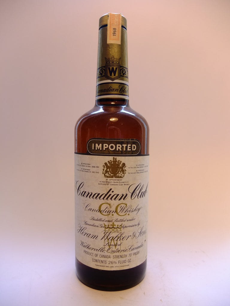 Canadian Club Blended Canadian Whisky - Distilled 1968, Bottled 1972 (40%, 75cl)