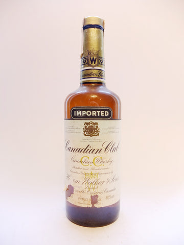 Canadian Club Blended Canadian Whisky - 1980s (40%, 75cl)