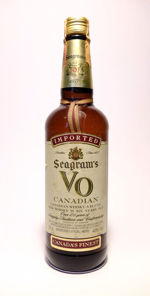 Seagram's V.O. 6YO Canadian Whisky - Early 1980s (40%, 70cl)