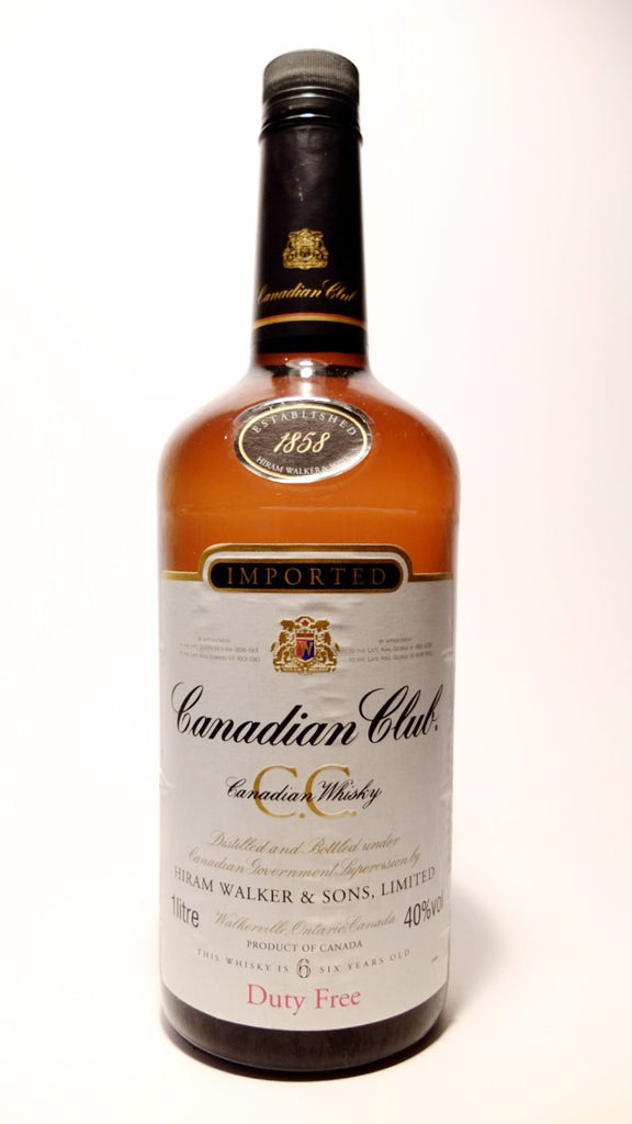 Canadian Club 6YO Blended Canadian Whisky - 1990s (40%, 100cl)
