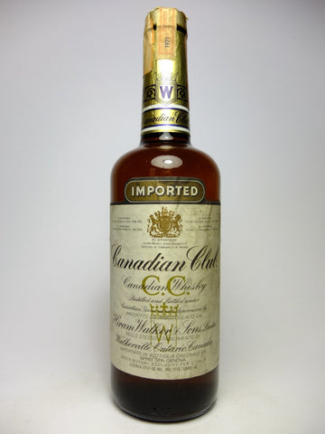 Canadian Club Blended Canadian Whisky - Distilled 1971 (40%, 75cl)