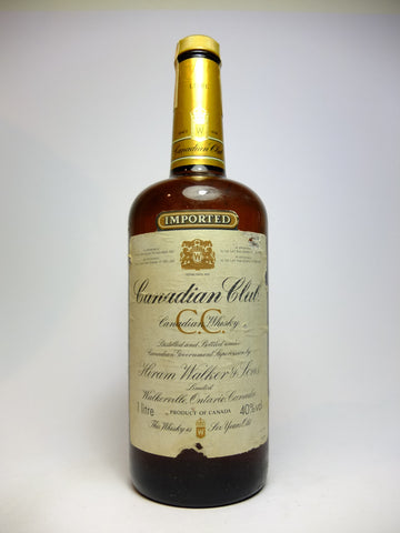 Canadian Club 6YO Blended Canadian Whisky - Distilled 1977, bottled 1983 (40%, 100cl)