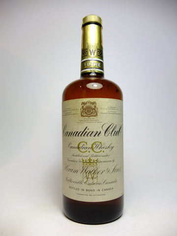 Canadian Club Blended Canadian Whisky - Distilled 1975 (40%, 100cl)