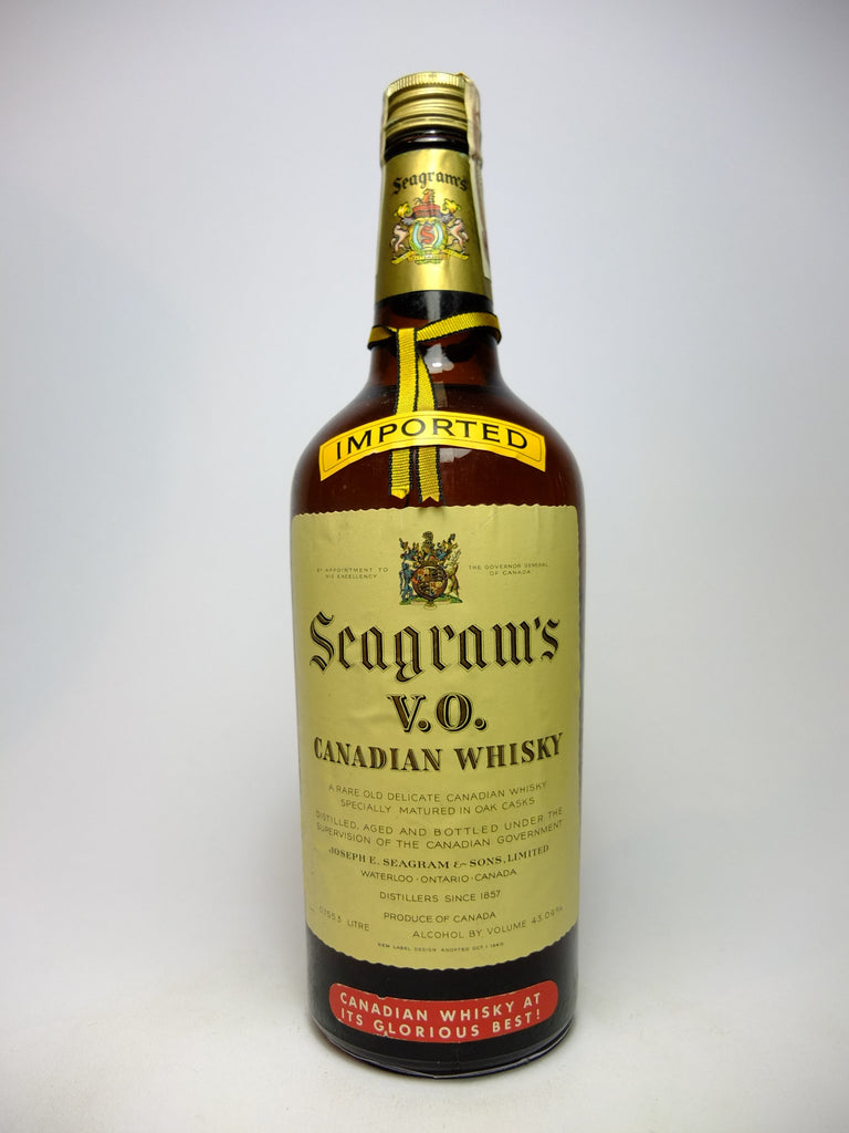 Seagram's V.O. Blended Canadian Whisky - 1947-1949 (43%, 75cl)