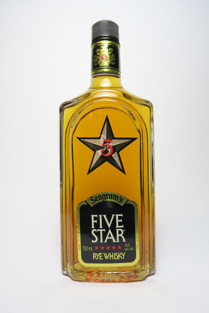 Seagram's Five Star Rye Whisky - Distilled 1988 (40%, 75cl)
