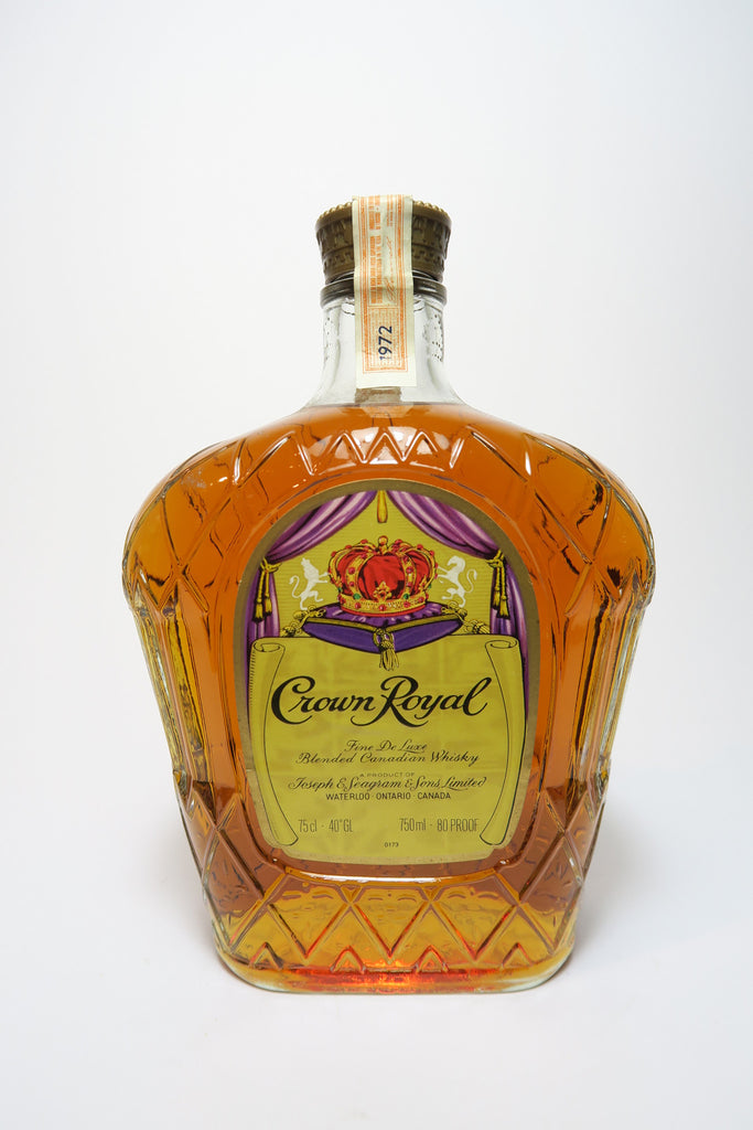 Seagram's Crown Royal Blended Canadian Whisky - Distilled 1972 (40%, 75cl)