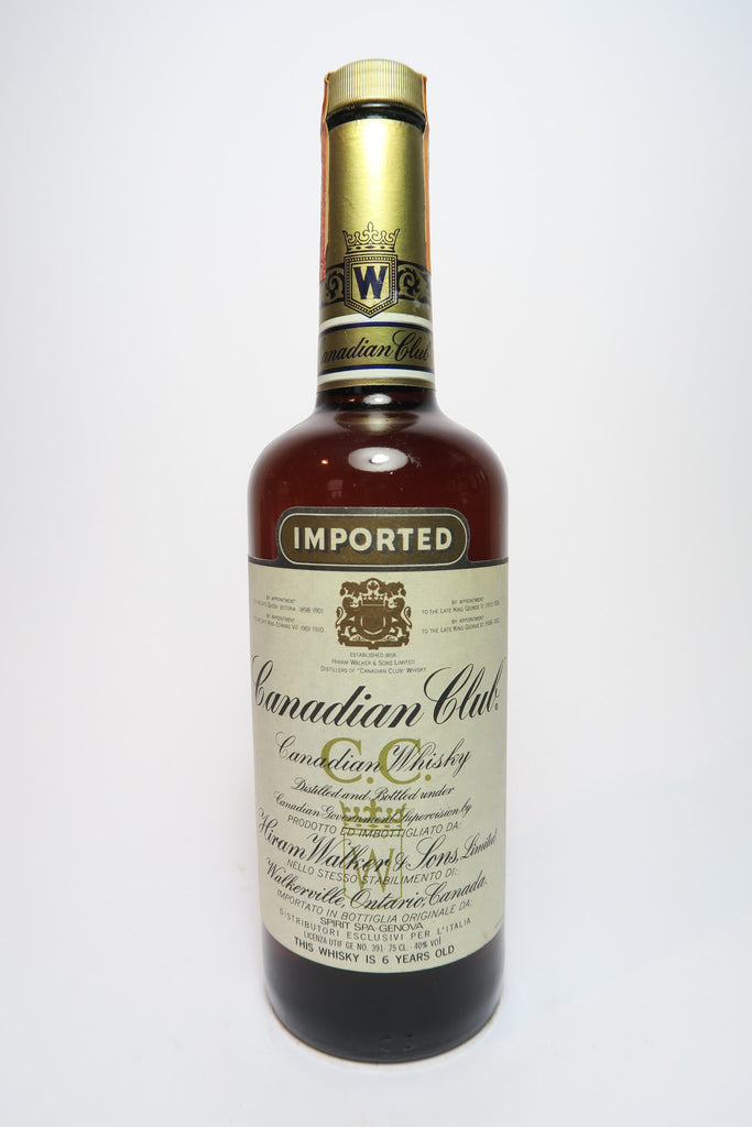 Canadian Club 6YO Blended Canadian Whisky - 1980s (40%, 75cl)