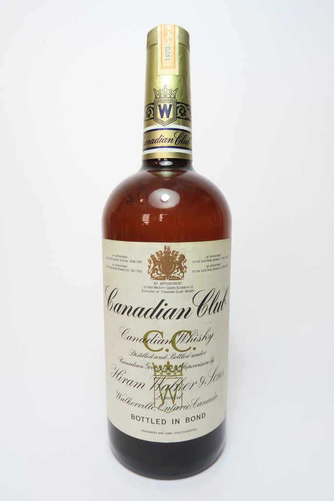 Canadian Club Blended Canadian Whisky - Distilled 1970 (ABV Not Stated, 113.6cl)