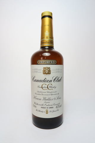 Canadian Club 6YO Blended Canadian Whisky - 1980s (40%, 100cl)