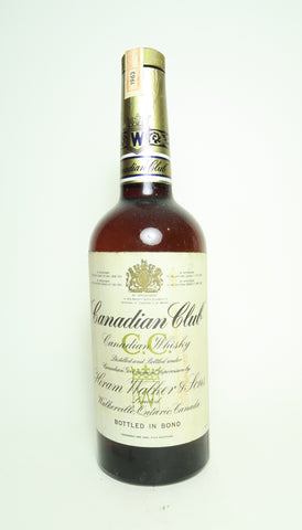 Canadian Club Blended Canadian Whisky [NB:  Bottled in Bond] - Distilled 1963	(ABV Not Stated, 75cl)