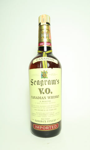 Seagram's V.O. 6YO Blended Canadian Whisky - Distilled 1965 / Bottled 1971 (43.4%, 75.7cl)