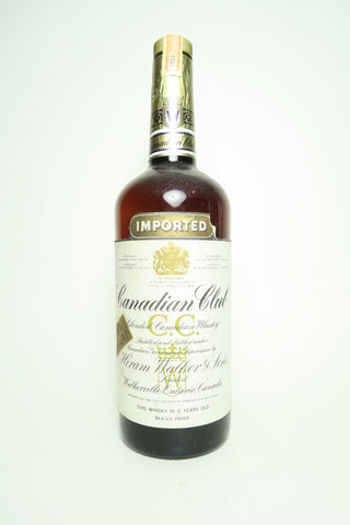 Canadian Club 6YO Blended Canadian Whisky - Distilled 1966 / Bottled 1972, (43.4%, 94.6cl)