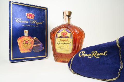Seagram's Crown Royal Blended Canadian Whiskey - Distilled 1970, (40%, 75cl)