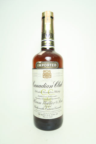 Canadian Club 6YO Blended Canadian Whiskey - Distilled 1976 / Bottled 1982, (43.4%, 75cl)