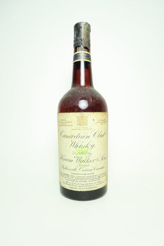 Canadian Club Blended Canadian Whisky - 1936-52, (ABV Not Stated, 75.7cl)