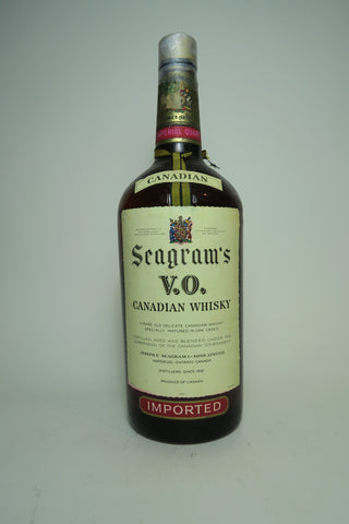 Seagram's V.O. Blended Canadian Whiskey - Distilled 1951 (ABV Not Stated, 114cl)
