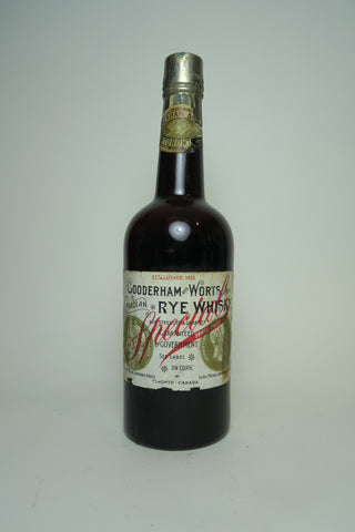 Gooderham & Worts Special Canadian Rye Whisky - Distilled 1908 (ABV Not Stated, 75cl)