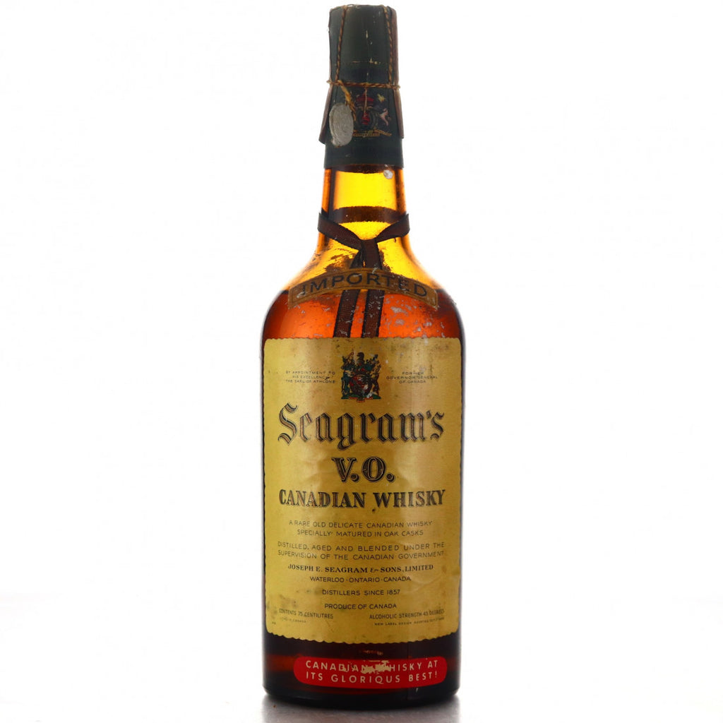 Seagram's V.O. Blended Canadian Whisky - 1950s (43%, 75cl)
