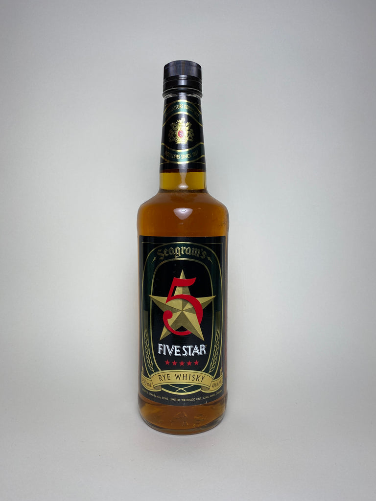 Seagram's Five Star Rye Whisky - 1980s (40%, 75cl)