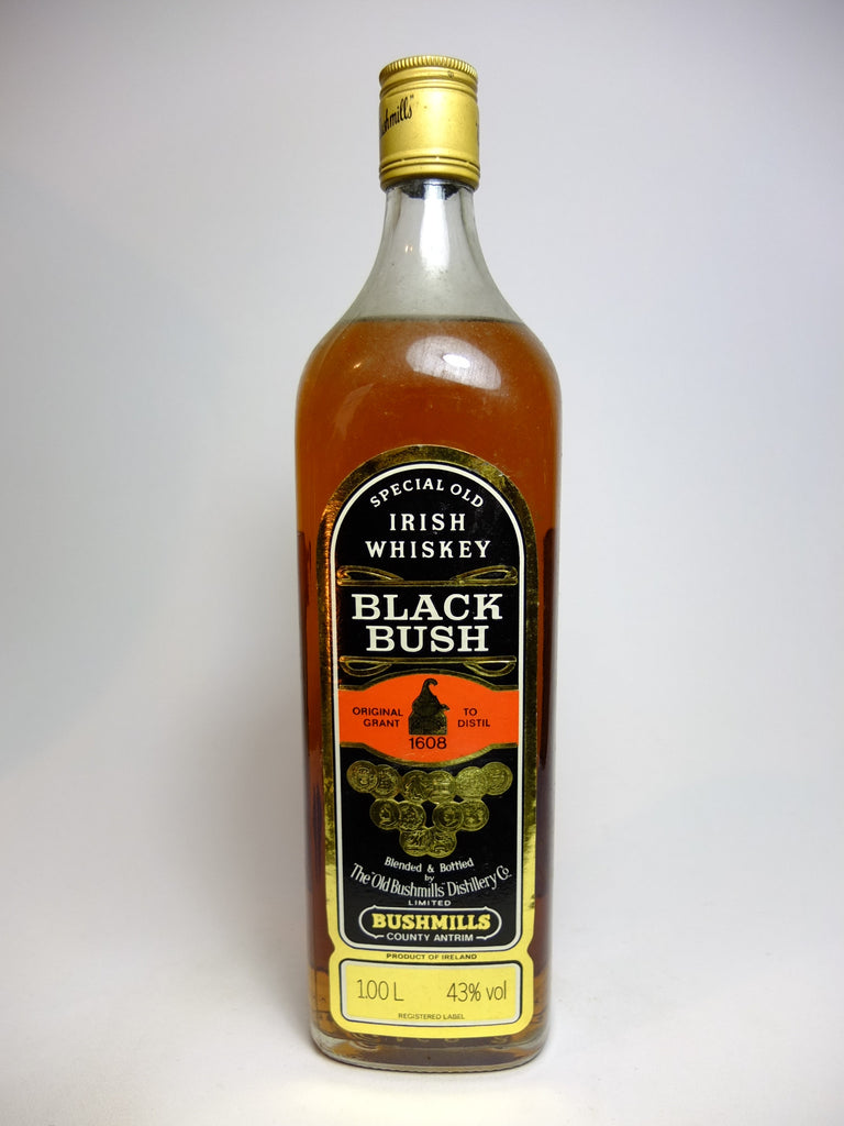 Bushmills Black Bush Irish Whiskey - 1980s (43%, 100cl)