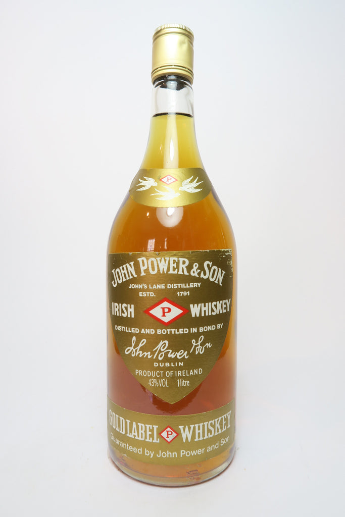 John Power & Son's Gold Label Blended Irish Whiskey - 1980s (43%, 100cl)