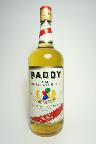 Cork Distilleries Co. Paddy Old Irish Blended Whiskey - 1980s (43%, 100cl)