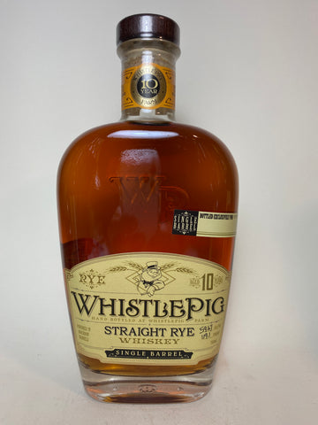 Whistle Pig 10YO Single Barrel Vermont Straight Rye Whiskey - 2010s (59.7%, 75cl	)