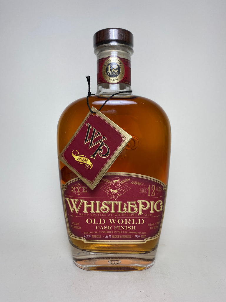 WhistlePig 12YO Old World Cask Finish Straight Rye Whiskey - Distilled 2005 / Bottled 2017 (43%, 75cl	)