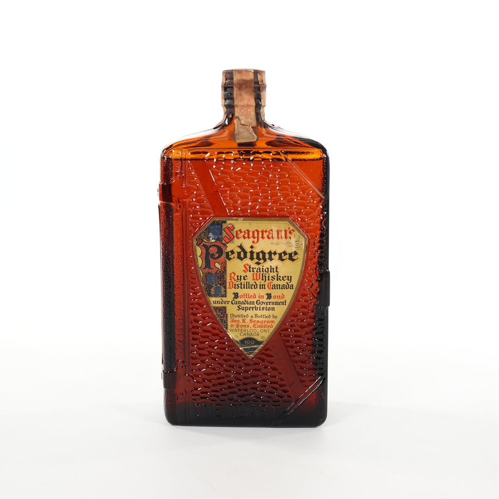 Seagram's Pedigree 8YO Straight Canadian Rye Whiskey - Distilled 1934 / Bottled 1942 (50%, 94.6cl)