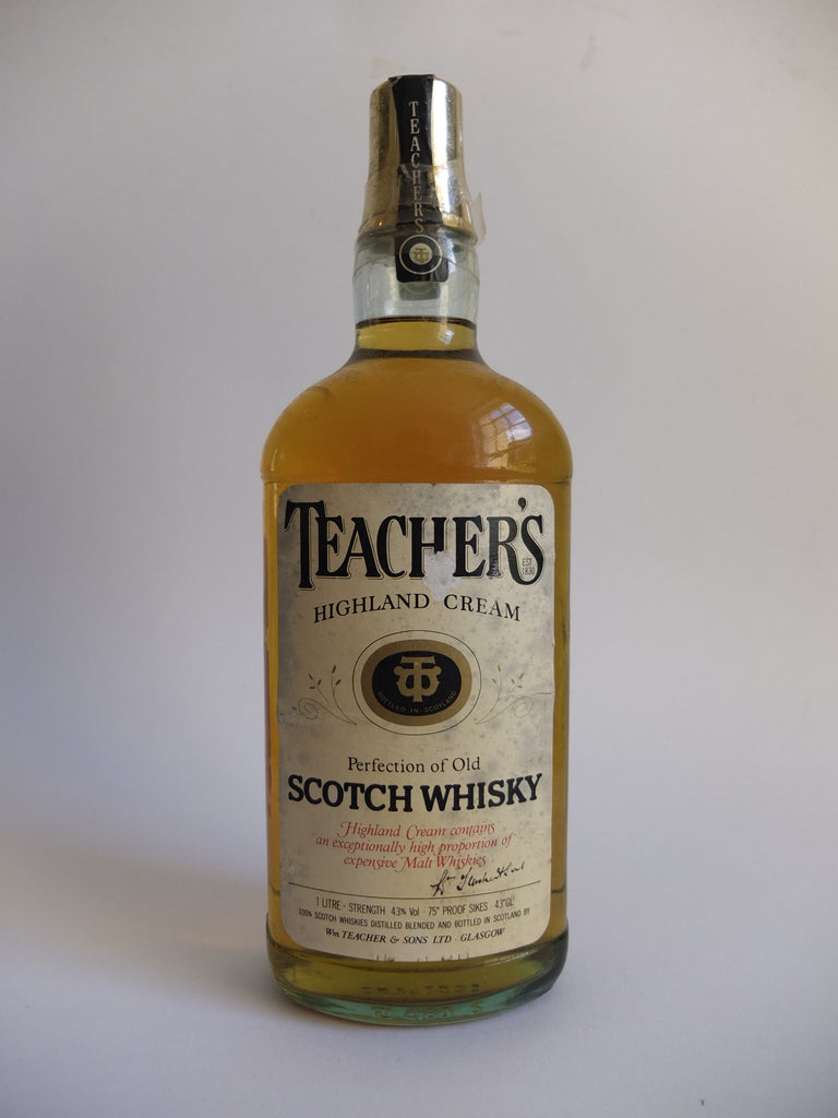 Teacher's Highland Cream Blended Scotch Whisky - 1970s (43%, 100cl)