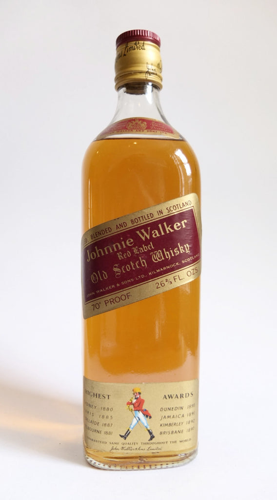 Johnnie Walker Red Label Blended Scotch Whisky - 1970s (40%, 75.7cl)