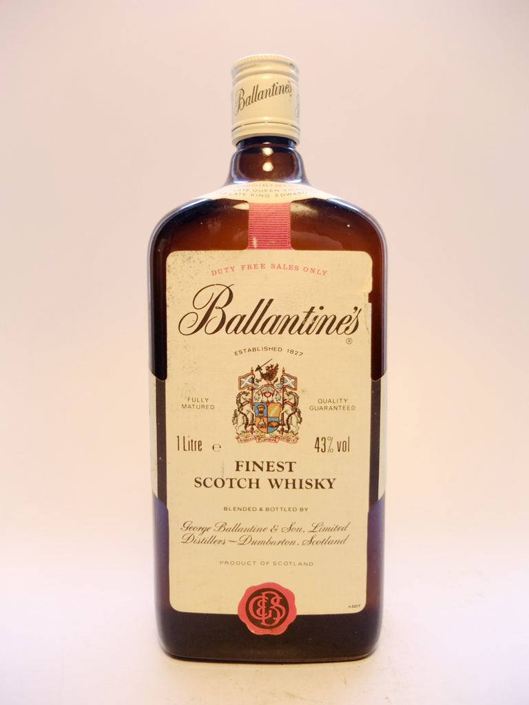 Ballantine's Blended Scotch Whisky - 1980s	(43%, 100cl)