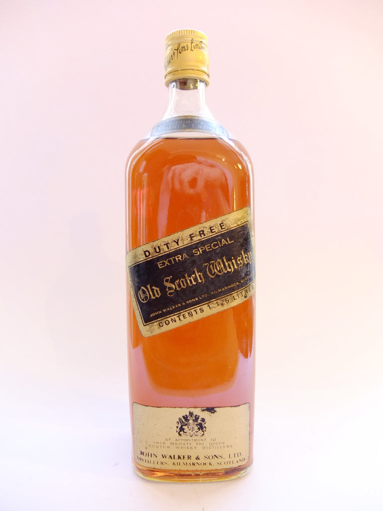 Johnnie Walker Black Label 12YO Blended Scotch Whisky - 1970s (40%, 113cl)