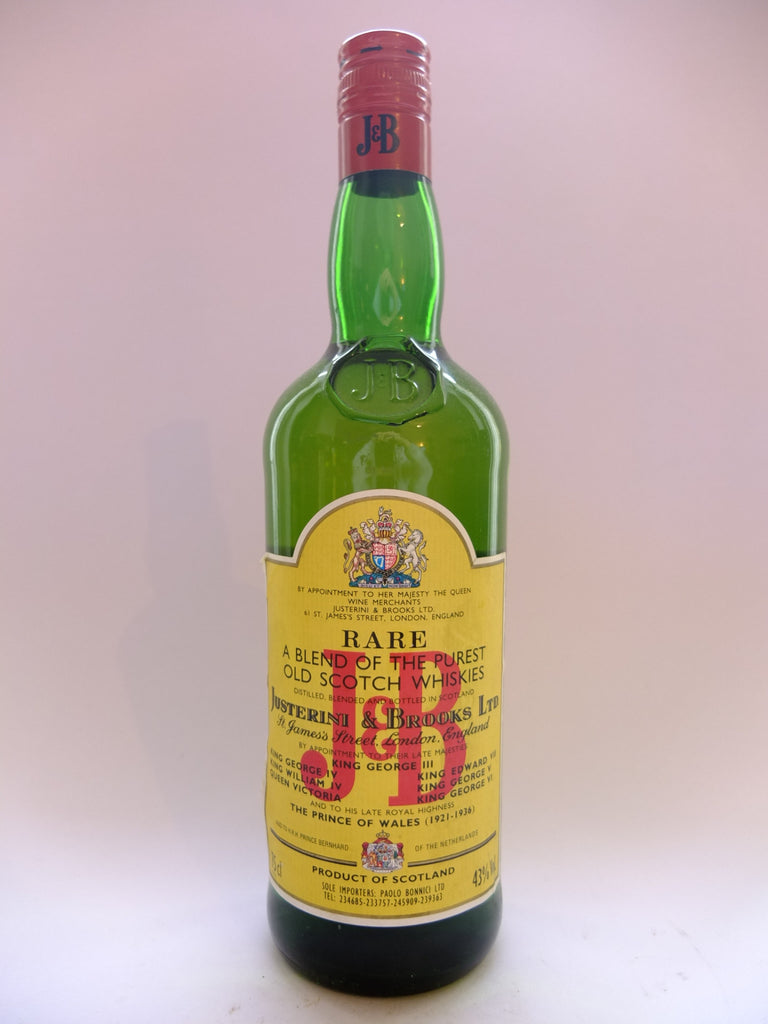 J & B, Blended Scotch Whisky - 1980s (43%, 75cl)