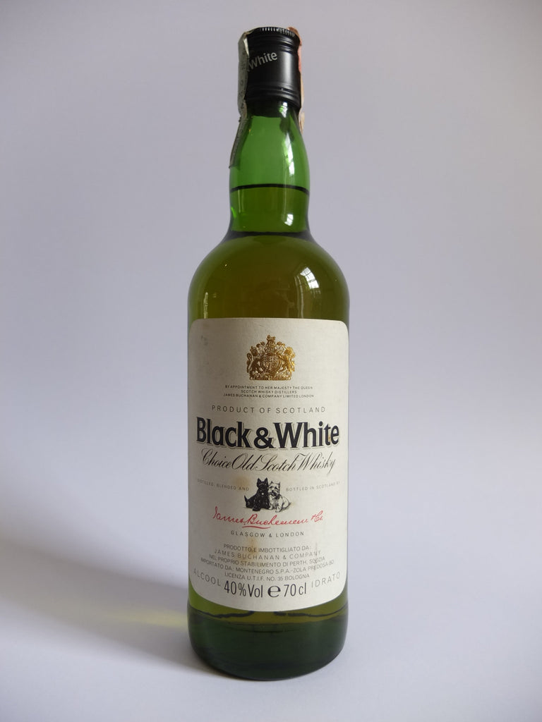 James Buchanan's Black & White Blended Scotch Whisky - 1980s (40%, 70cl)