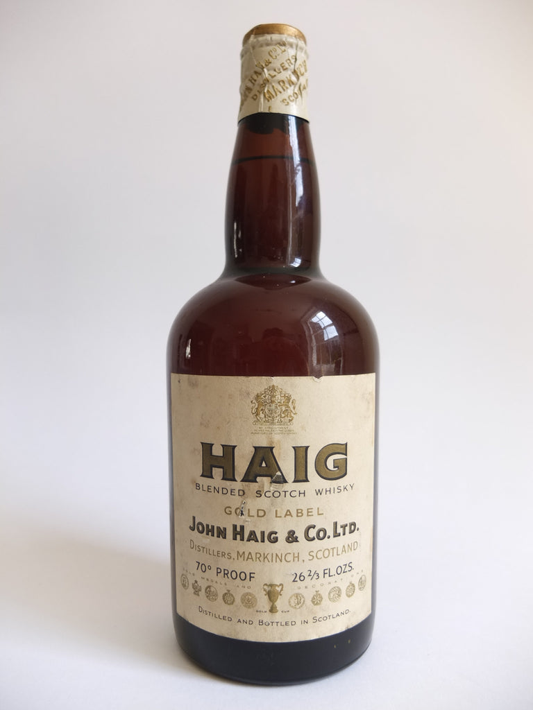 John Haig Gold Label Blended Scotch Whisky - 1950s (40%, 75cl)