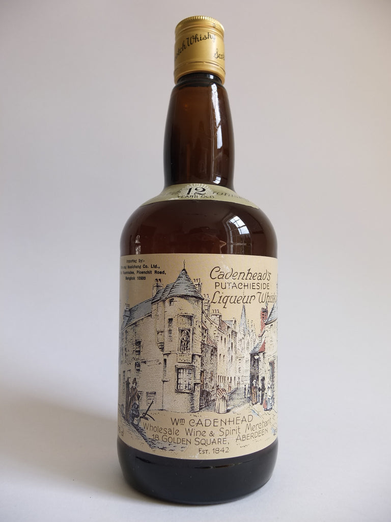 Cadenhead's Putachieside 12 Year Old Liqueur Whisky - late 1970s (43%, 75cl)