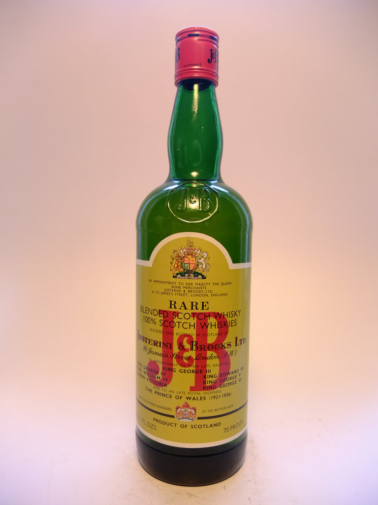 J & B, Blended Scotch Whisky - 1970s (40%, 75cl)