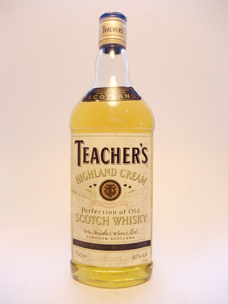 Teacher's Highland Cream Blended Scotch Whisky - 1990s (40%, 70cl)
