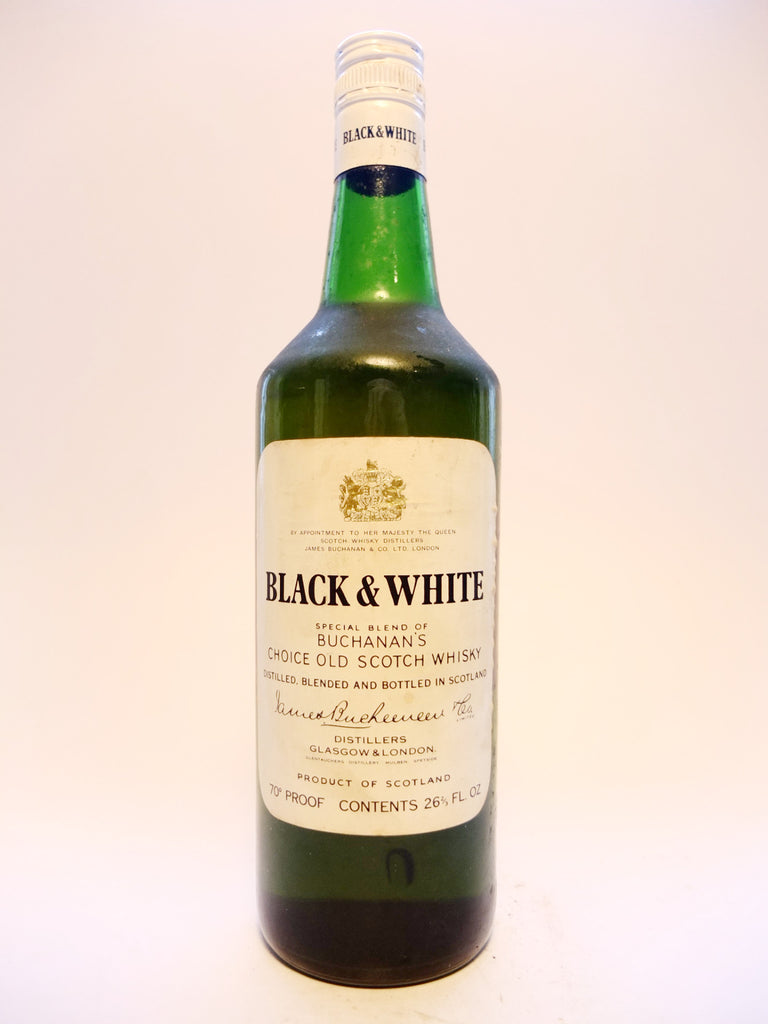 James Buchanan's Black & White Blended Scotch Whisky - 1970s (40%, 75cl)