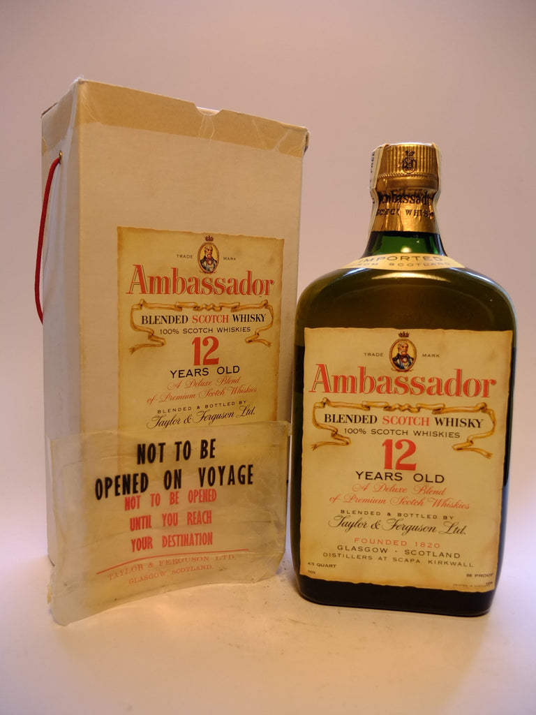 Taylor & Ferguson Ambassador 12YO Blended Scotch Whisky - 1970s (43%, 75cl)